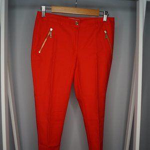 Michael Kors red dress pants slim fit Sz 2